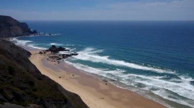 大西洋のビーチ — ストックビデオ