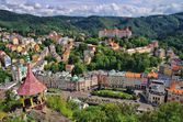 Karlovy Vary Deer Jump  — Stock Photo