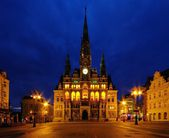 Liberec townhall night — Stock Photo