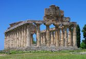 View of the ruins of Paestum — Foto Stock
