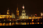 Dresden Fireworks — Stock Photo