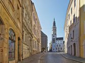 Goerlitz old tower from townhall  — Stock Photo