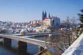 Meissen Albrechtsburg Winter  — Stock Photo