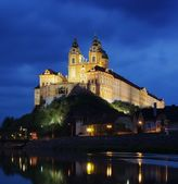 Melk by night — Stock Photo