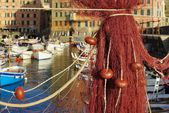 Camogli fishing net — Stock fotografie