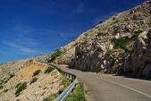 Stara Baska coast road  — Stock Photo