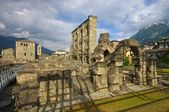 Aosta roman theatre — Stock Photo