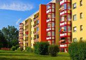Grossraeschen apartment blocks — Stock Photo