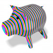 3d piggy bank. Cmyk concept — Stock Photo