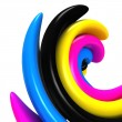 Stock Photo: 3d abstract cmyk background