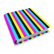 3d cmyk book — Stock Photo