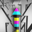 Stock Photo: 3d cmyk arrow