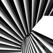 3d abstract black and white background — Stock Photo