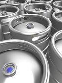3d beer keg background — Stock Photo
