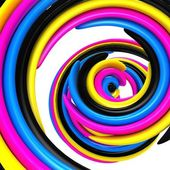 3d abstract cmyk background — Stock Photo