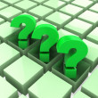 Stock Photo: 3d three green question marks