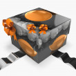 Stock Photo: 3d gift box with abstract texture