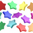 3d Colorful stars background — Stockfoto