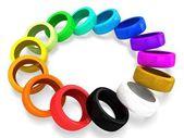 3d rainbow wheel tires. — Foto Stock