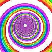 3d abstrato espiral — Foto Stock