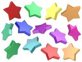 3d Colorful stars background — Foto de Stock