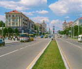 Main avenue in Zaporizhia, Ukraine — Stock Photo