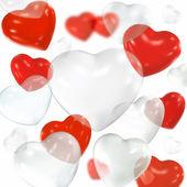 Valentine's day balloons — Stock fotografie