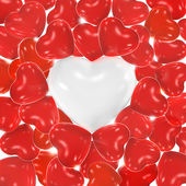 Heart shaped balloons — Stock Photo