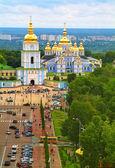 Mosteiro da cúpula dourada do St Michael — Fotografia Stock