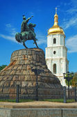 St Sophia Cathedral and monument to Khmelnitsky — Stock Photo