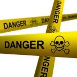 Danger tapes — Stock Photo