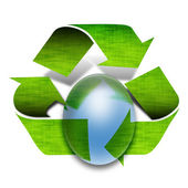 Green recycle arrows — Stock Photo