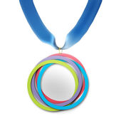 Medal isolated on white — Stock Photo