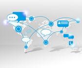 иллюстрация коммуникации — Стоковое фото