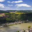 Rhine valley as seen from the Dreiburgenblick lookout — Stock Photo
