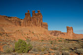Three Gossips at Arches National Park — Stock Photo