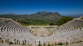 Greek Theater in Segesta — Stock Photo