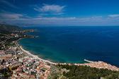 Panorama of the sicilian coastline near Cefalu — Stock Photo