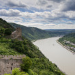 Stock Photo: Panoramof Rhine River Valley with Castle Liebenstein