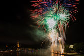 Firework over the Main river — Stock Photo