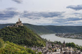 Marksburg overlooking the Rhine Valley — Stock Photo