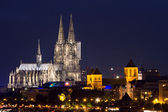Cathedral of Cologne at twilight — Stock Photo