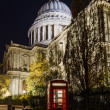 Red Phone Booth in front of St. Pauls Cathedral — Stock Photo #38584997