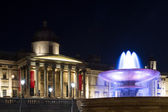 Trafalgar Square at night — Stock Photo