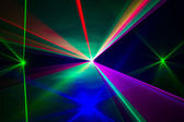 Spectrum of laser beams — Stock Photo