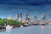 Cityscape of London during a thunderstorm — Stock Photo