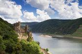 Castle Rheinstein overlooking the Rhine Valley — Stock Photo