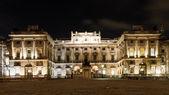 Illuminated Somerset House at night — Stock Photo