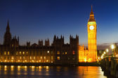 Big Ben during the blue hour — Stock Photo