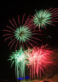 Firework in red and green — Stock fotografie